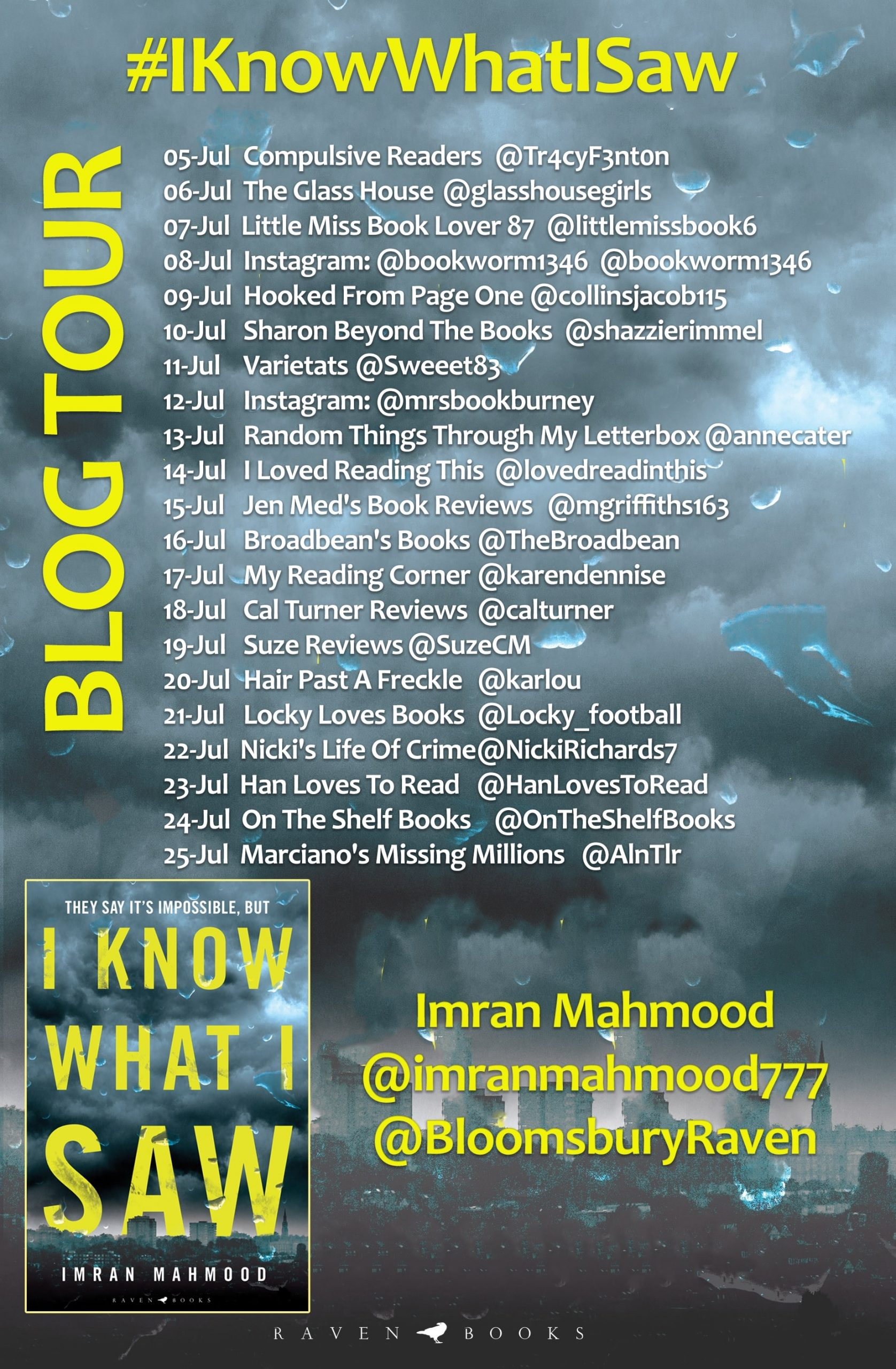 I Know What I Saw by Imran Mahmood online blog tour banner